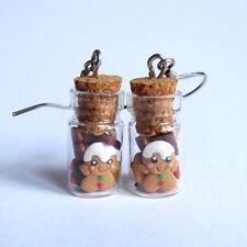 Christmas Cookies Jars Funny Gingerbread Man Girls Gifts Funky Earrings Jewelry