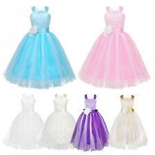 Kids Lace Flower Girls Princess Communion Dress Party Bridesmaid Wedding Dresses