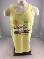 Vintage 80's Sun Your Buns San Diego California Duck souvenir Tank Adult XL USA