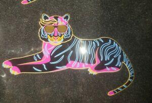 Yoobi Binder Zip Case Cool Neon Tiger Big Cat  Design - New