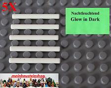 5X Lego 30374 Zauberstab Laserschwert Bar 1X4 Weiß Nachtleuchtend Glow Neu