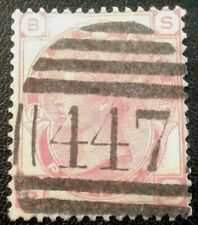 Duzik: Gb Qv Sg143 3d. red S-B Pl.12 used stamp (No.1307) *