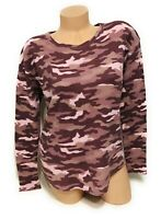 NWT Victorias Secret PINK Tshirt Camo Long Sleeve Tee Shirt Top Size Small