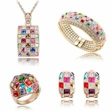 Rose Gold Plated Multi-Colour Fashion Jewellery Sets
