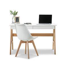 timber office desk. modern retro white scandinavian danish study home office timber desk w oak legs