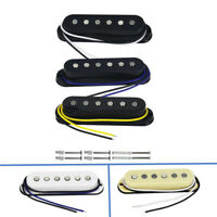 Alnico 5 Single Coil Flacher Pol Strat Gitarre Pickup Hals / Mitte / Brücke /Set