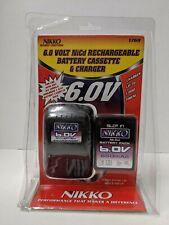 Nikko RC 6v 6.0v NiCd Rechargable Battery & Charger #1769