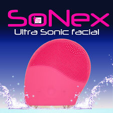 SONEX ULTRA SONIC ELECTRIC SILICONE FACIAL BRUSH CLEANSER CLEANSING EXFOLIATOR