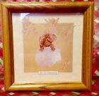 "Anne Geddes*CHERUB BABY*Oak Frame Art Print*Christmas*Child Room*7"" square*EC!"