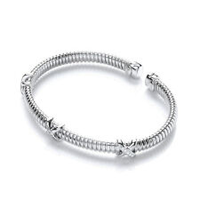 J JAZ Taylor Kiss Kiss Sterling Silver Cubic Zirconia Wire Bracelet Bangle