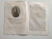 1819 Ortolani, Ritratto/Bio di Abate Antonino Galfo, Poeta, Modica