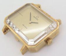 .Super RARE Vintage 1972 Omega Deville Emerald 18k Gold Watch by Andrew Grima