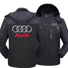 Newest Audi Sports warm thickness leisure men's rain proof storm jacket