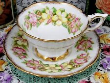 ROYAL STAFFORD SPECIAL OCCASION ORANGE BLOSSOM GOLD BELLS TEA CUP & SAUCER