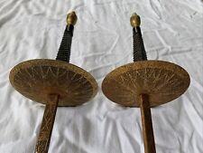"2 Pair Vintage Spanish Fencing Foil Swords Epee Multi Color 42"" Espada Esgrima"