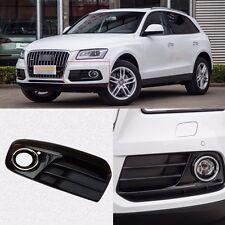 Black Auto Front Bumper Driving Fog Lights Cover Lamp Frame Trim For Audi Q5