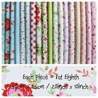 Big Bundle 100% Cotton Fabric Material Cath Kidston & Riley Blake FAT EIGHTHS