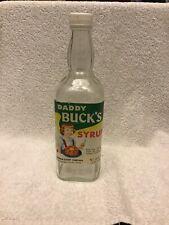 Rare Daddy Bucks Syrup Bottle Graceville Fl. Whiskey