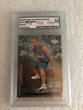 Mike Bibby Rookie 1998-99 Upper Deck Black Diamond #94 Graded 9.0 Mint