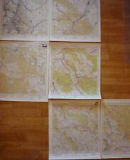 Karte Eulengebirge Mapa Gory Sowie Walim Gluszyca Riese Militär Rare 1: 25 000