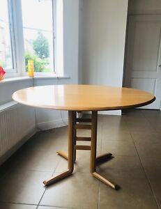 Ercol Campden Blonde/Light Ash Extending Drop Leaf Dining Table 955 Vintage