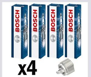 4x Bosch Spark Plugs for BMW E87 2.0 CHOICE1/2 116i 118i 120i N43