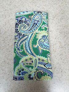 Eyeglass / Sunglass Soft Fabric Case - Jade Green with Metallic Gold Accents