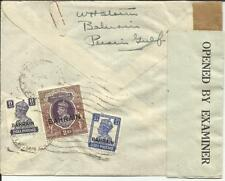 Bahrain SG#49,#33,#46 WWII Censor-PP/14 Airmail to USA