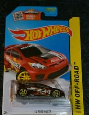 2015 HOT WHEELS HW OFF - ROAD '12 FORD FIESTA BURGUNDY RED