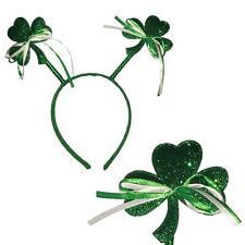 St Patrick's Day - Glitter Shamrock/Clover Head Bopper - Party Dress Up