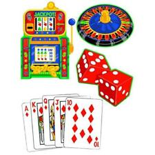Casino Night Cards Slots Jackpot Dice Roulette Theme Party Decoration Cutouts
