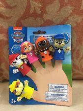 PAW PATROL Finger Bath 5 Puppets Kids Toy NEW