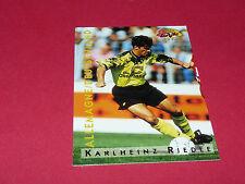 K. RIEDLE BUNDESLIGA BVB BORUSSIA DORTMUND PANINI FOOTBALL CARD 1994-1995