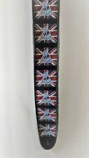 Def Leppard High Quality Guitar Strap British Flag Rock Band Leopard UK Rocker