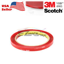 Genuine 3M VHB # 4905 Clear Double-Sided Tape Mounting Automotive 5/16