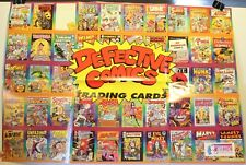 """1993 Defective Comics Trading Cards 17 1/2 x 25"""" Promo Poster Active Marketing"""
