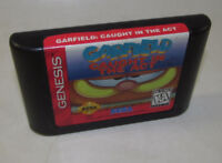 Garfield: Caught in the Act (Sega Genesis, 1995) Game Authentic Nice Label