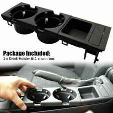 For BMW E46 Black Center Console Drink Cup Holder&Coin Holder 323 325 328 330 M3(Fits: M3)