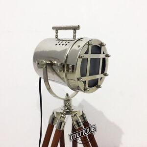 Vintage Table-Top LED Lamp Night Bulb Stand Wooden Spotlight Sea Light-Hous
