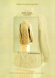 Ladies Aran Tunic Designed For Aran Wool Knitting Pattern - JOO5