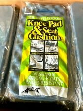 Lot of 2 Foam Knee Pad Mat and Seat Cushion For Gardening, Garage Sporting Event