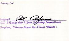 ART ARFONS: World Land Speed Record Setter: Deceased:  Autographed Card