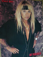 MOTLEY CRUE (VINCE NEIL) - MAGAZINE CUTTING (FULL PAGE PHOTO) (REF XE2)