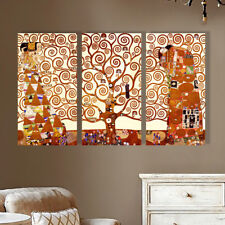 Stretched Framed Tree of Life canvas prints Split print Gustav Klimt home art
