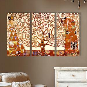 Stretched Framed Tree of Life canvas prints Split print Gustav Klimt home art