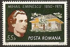 ROMANIA 1975 HOME OF MIHAI EMINESCU POET SC # 2548 MNH