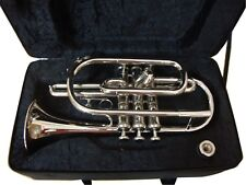 HOT SALE! BRAND NEW Bb CORNET CHROME FINISH WITH FREE HARD CASE+MOUTHIPIECE