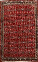 Antique Tribal Kashkoli Vegetable Dye Hand-Made Area Rug Geometric Carpet 7'x10'