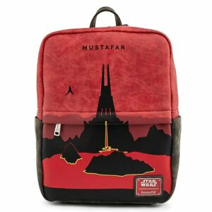 Loungefly Star Wars Lands Mustafar Square Mini Backpack