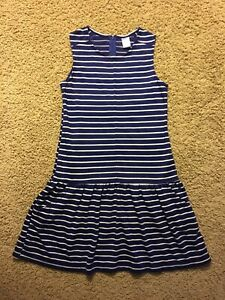 Girl's Girlyfied Size 14 Striped Dress With Front Pockets